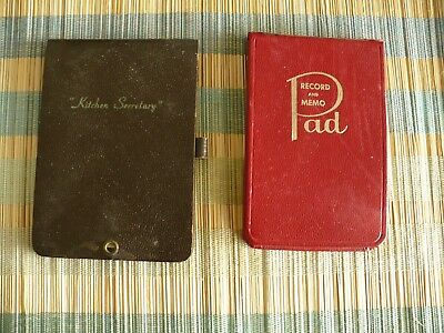 2 Vintage 1940's Small Tablets, Memo Pad & Kitchen Secretary for shopping