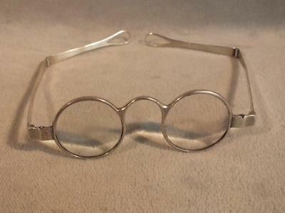 Antique English Sterling Silver Eyeglasses - Double Hinge Hallmarked