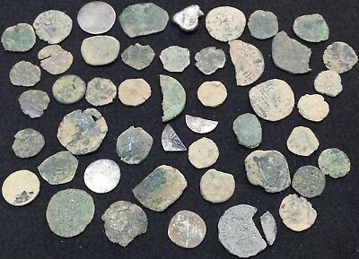 Lot of 47 coins - Medieval - Mostly Spanish - Includes Silver - Maravedis