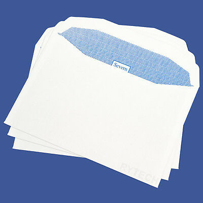 C6 Plain White Gummed Envelopes 80GSM Opaque Office A6 Letter Mail Home Business