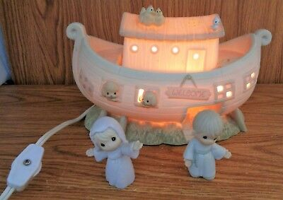 Precious Moments TWO BY TWO THE NOAH'S ARK STORY Porcelain Figurine Starter Set