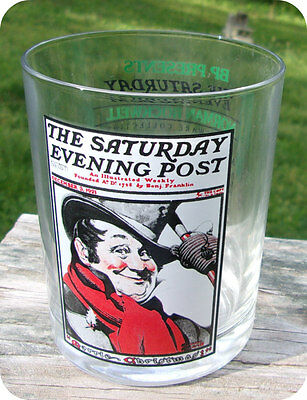 Norman Rockwell Saturday Evening Post Glass A Tip Of His Hat