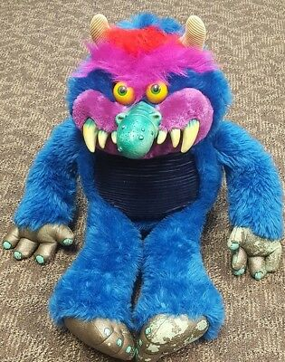 Vintage Football Amtoy My Pet Monster Plush Stuffed Animal Toy W