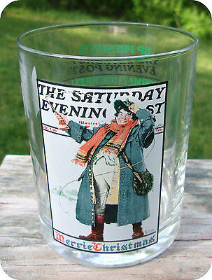 Norman Rockwell Saturday Evening Post Christmas Coachman Glass
