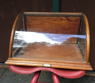 J P Priwley's California Chewing Gum curved glass store display case Antique