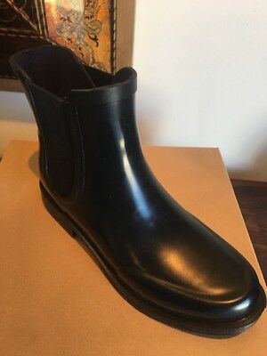 cb6a45cd334 UGG BLACK AVIANA Rubber / Sheepwool Gored Rain Boots, Us 9/ Eur 40 New With  Box