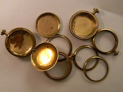 NICE VINTAGE 158g 20 YEAR GOLD FILLED POCKET WATCH CASES - MARKED - SCRAP