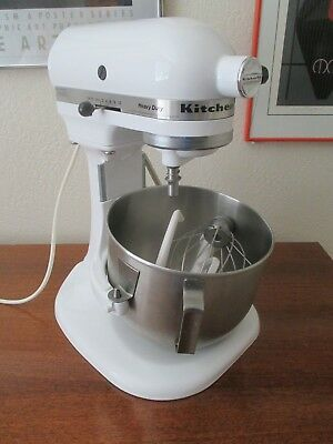 Kitchen Aid Heavy Duty Series 5Qt Lift Bowl Mixer K5SSWH 325 Watt White