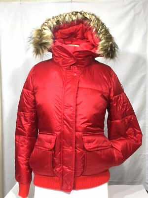 Abercrombie & Fitch Puffer Jacket Coat Red Sz L [144-442-0489-500] New with Tags