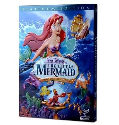 The Little Mermaid (DVD, 2006, 2-Disc Set, Platinum Edition) NEW FREE SHIPPING