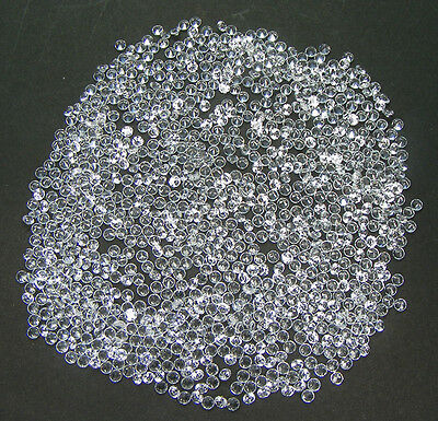 50 Pcs. Machine Cut 1,8 Mm Saphir Blanc Corindon De Synthese