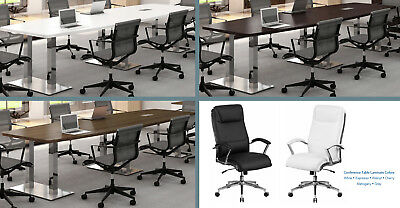 FOOT CONFERENCE Table And Chairs SET COLORS Black Brown - 5 foot conference table