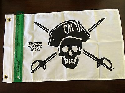 RARE! Captain Morgan White Rum Pirate Mini-Flag Jolly Roger Skull NEW in bag!