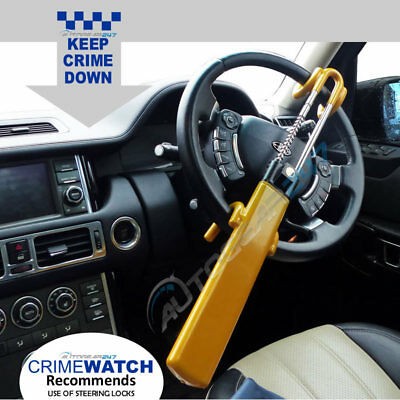 For Range Rover Twin Bar Anti Theft Double Claw Steering Wheel Lock Clamp. TBL
