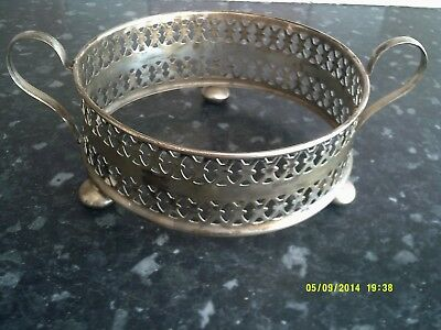 silver plated dish cover on 3 ball feet