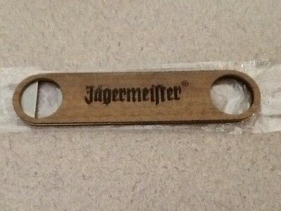 "NEW Jagermeister Bottle Opener 7"" Wood / Metal Jager"