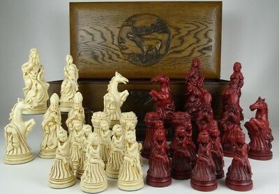 Large Vintage Style Louis XIV French Chess Set Pieces