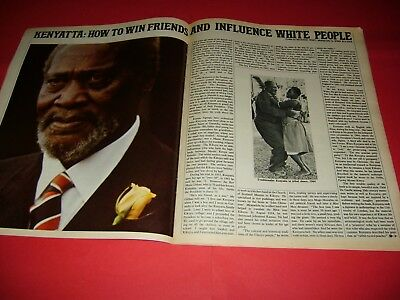 David Bailey Jomo Kenyatta Jean Plaidy 1968 UK Sunday Times Magazine