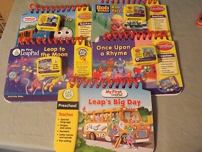 My First Leap Frog Pad Lot 5 Books & Cartridges Learning Educational Thomas Bob