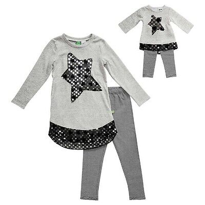 """NWT Gray Girls Dollie & Me Matching Doll outfit fits 18"""" American Girl Size 6"""