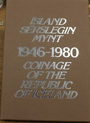 1946-1980 Iceland Proof set Island Serslegin Mynt 11 Coin Set