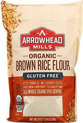 Arrowhead Mills Organic Gluten-Free Brown Rice Flour, 24 oz. (Pack of 6)