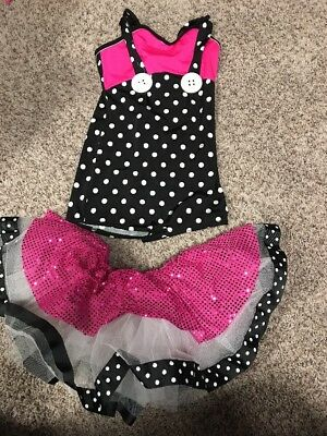 EUC Curtain Call Costumes Children's XL Polka Dot And Pink Costume