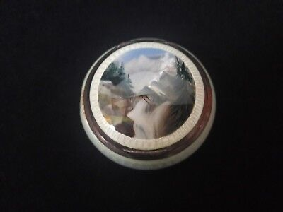 Silver And Enamel Pill Box
