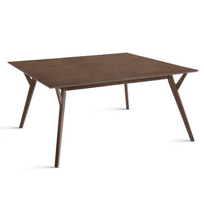 6 Seater Wood Timber Dining Table Walnut
