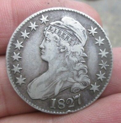 1827 Capped Bust Silver Half Dollar Nice Condition No Reserve