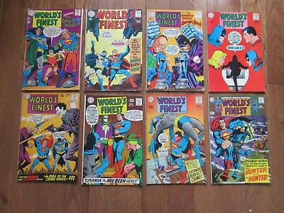 WORLD'S FINEST 173,174,175,176,177,178,180,181 DC  SILVER Age 1968  LOT of 8, VF