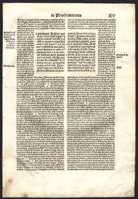 Bible Leaf Incunable Anton Koberger St Jerome's Introduction to Pentateuch