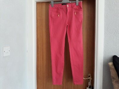 River island stretch jeans size 10, pink. slim fit.