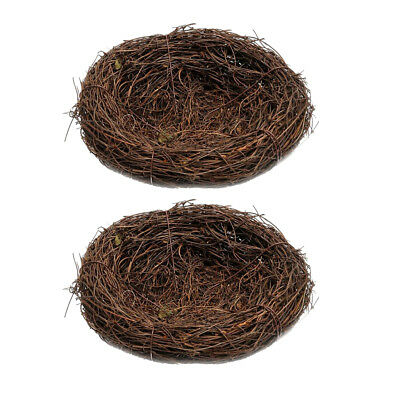 2x 20cm Natural Twig Birds Nests for Wedding Party Favor Floral Baby Shower