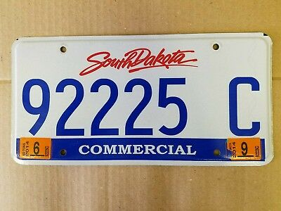 South Dakota Commercial license plate  preowned expired good condition