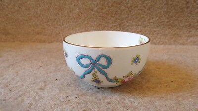 CROWN STAFFORDSHIRE CHINA BLUE BOW Sugar Bow 3 inches Diameter