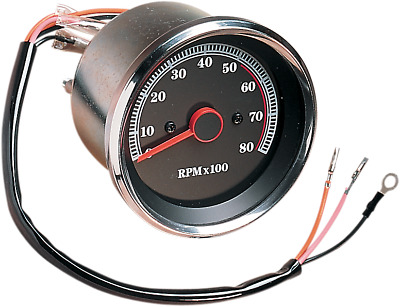 Drag Specialties 8000 rpm Electronic Tachometer 85-94 Harley Davidson