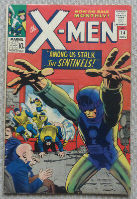 X-MEN #14, ORIGINAL SILVER AGE CLASSIC, 1965. 1st APPEARANCE OF 'THE SENTINELS'.