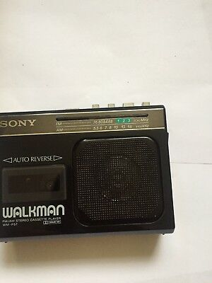 sony walkman WM-SONY WALKMAN FM/AM STEREO CASSETTE PLAYER