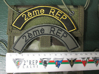 French Foreign Legion Etrangere -2 REP-set 2 patches to the sac,backpack,rucksac