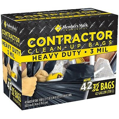 Large Heavy Duty Trash Bags 42 Commercial Contractor Clean Up Bags 42 Gallon
