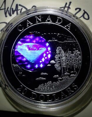 2005 Canada $20 Silver, amazing DIAMOND HOLOGRAM, Natural Wonders Coin