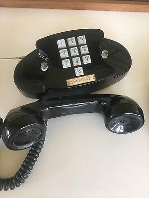 Vintage Western Electric Bell 10 Button Pushbutton Princess Phone Black