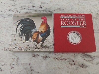 Australia 2017 Year of Rooster Chinese Lunar 3 Coin Silver Proof Set