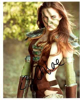 Chloe Dykstra Signed 8X10 Photo Awesome Sexy Pic Realms Of Labyrinth W/ Coa