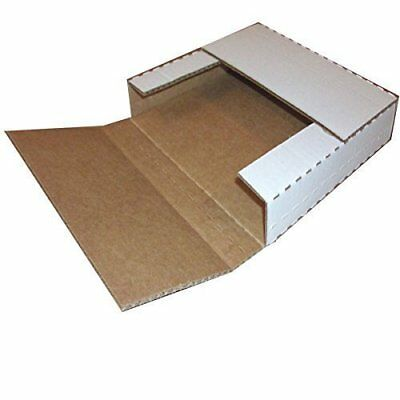 "Vinyl Record Mailers White Holds 1-6 - 45 rpm 12"" Record LP Cardboard Multi-Dept"