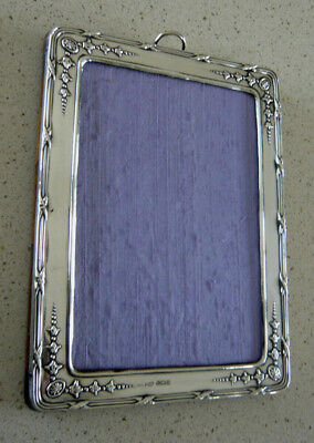 Antique Solid Silver Photograph Frame by Henry Matthews 1915 Birmingham