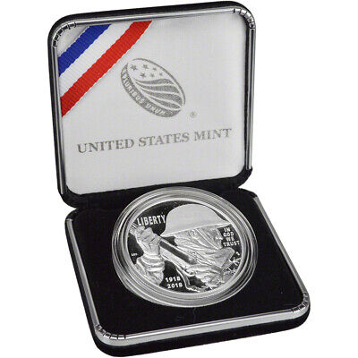 2018-P US World War I Centennial Commemorative Proof Silver Dollar