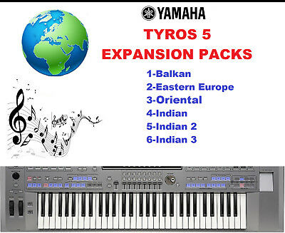 Yamaha Tyros 5 Expansion Packs- First pack of 6
