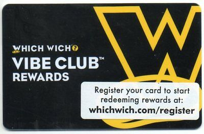 2 WHICH WICH GIFT CARDS no value SUPERIOR SANDWICHES...REGULAR, VIBE CLUB REWARD